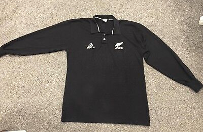 Maillot Jersey Vintage Rugby All Black New Zeland Shirt Size M