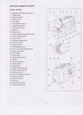 Janome Xc 33 Sewing machine Instruction Manual 47 page PDF Sent to your Email