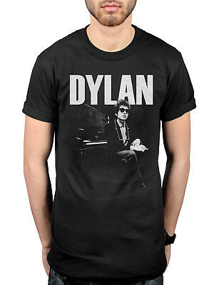 Official Bob Dylan At Piano T-Shirt Blonde On Blonde Blood On The Tracks