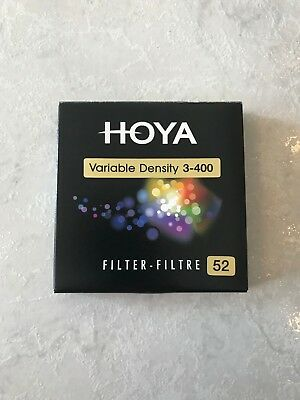 HOYA variable filter ND3-400 52mm (mint condition)