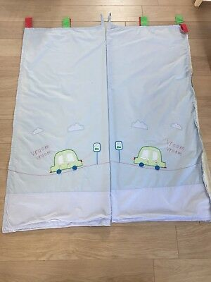 Lovely Mothercare Happy Town Boys Pre-School Nursery Car Curtains With Blackout