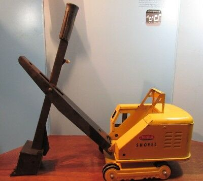 Vintage  Tonka Toys shovel YELLOW 1960's earth mover excavator toy Collectable