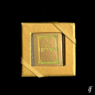 ~ Judaica Psalms / Tehilim /real Holy Book Miniature  Gold / 10 Dd