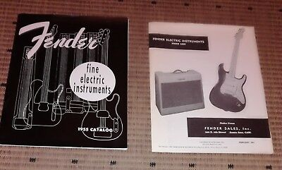 Fender Fine Electric Instruments 1955 Catalog reprint Stratocaster Telecaster