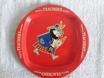 Teacher's Scotch Whisky Vintage Metal Beer Tray Made In England Used
