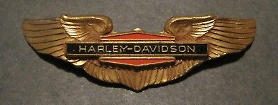 HARLEY DAVIDSON MOTORCYCLE - VINTAGE Pin Back Wings - FROM HAT