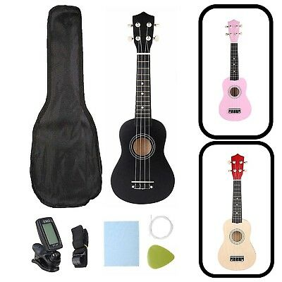 21in Guitar Combo Set Soprano Ukulele Musical Instrument Kit For Begginers Gift