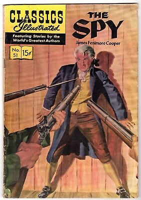 Classics Illustrated #51 - The Spy, Edition 4, HRN #139, Very Good Condition'