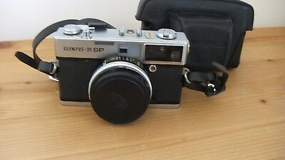 OLYMPUS - 35 SP 35 mm CAMERA WITH WITH ORIGINAL BAG