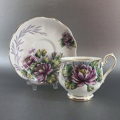 Royal Albert Flower Of The Month Water Lily Bone China Teacup England Tea Cup