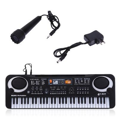 61 Keys Digital Music Electronic Keyboard & Microphone Electric Piano Organ FT