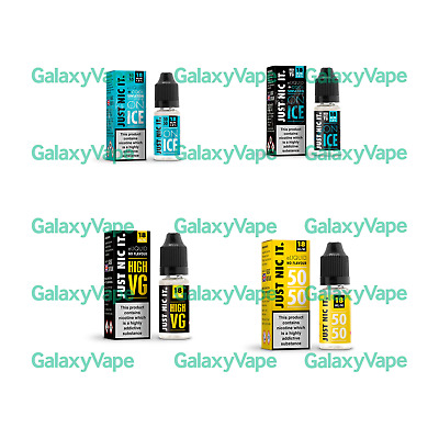 ++ Just Nic It 10ml nicotine nic shot e liquid vape juice 18mg 50/50 ¦ 80/20 ++