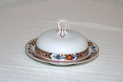 H & Co Heinrich HC237 Imperial Selb Bavaria Round Covered Butter Dish