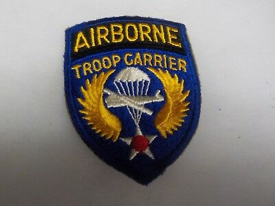 Original WWII US AIRBORNE TROOP CARRIER PATCH C-47 & Glider Pilot Patch D-DAY