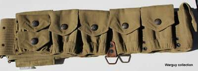 Border War pre WWI Mills M1909 cavalry cartridge ammo belt  .45 Colt pouch rare