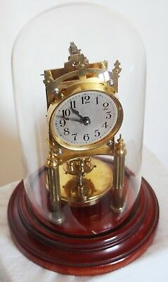 RARE. Gustav Becker 400 day Anniversary Clock complete with Glass dome.