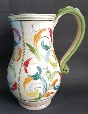 Vintage Denby Hand Painted 'Glyn Ware' Tall Jug with Signature