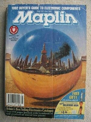Classic Maplin Catalogue 91/92 with 'reflective ball' cover