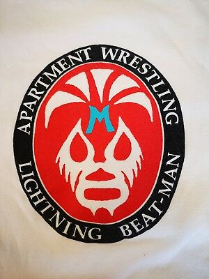 Lightning Beatman Apartment Wrestling Shirt L