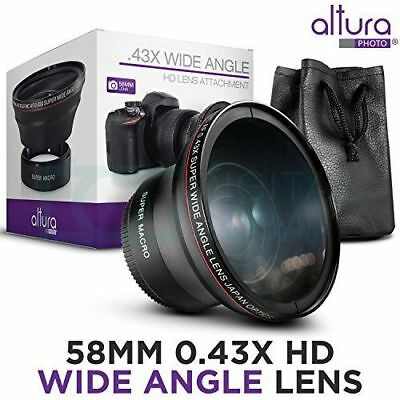 58MM 0.43x HD Wide Angle Lens for Canon Rebel T6i T6 T6S T5i T5 T4i T2i XTi XSi