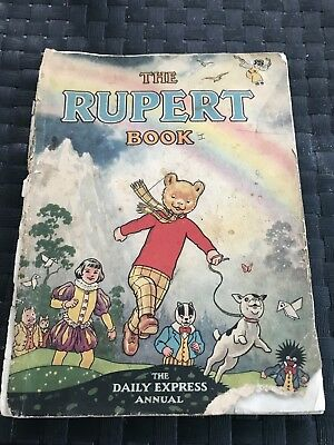 """THE RUPERT BOOK"" - 1948 edition - Illust. by Alfred Bestall.  Pub.Daily Express"
