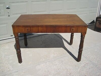 English George III Mahogany Library Table or Writing Desk Stunning Unique!