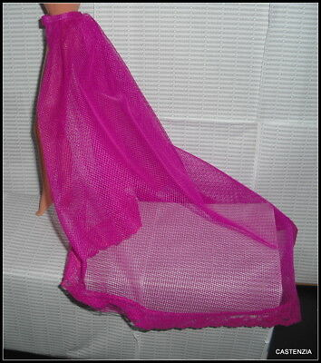 Lingerie Barbie Doll Mattel Bill Blass Bright Pink Tulle Lace Trim Slip Accesory