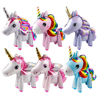 Giant Unicorn Helium Balloons Column Stand Birthday Party Suppies Table Decor