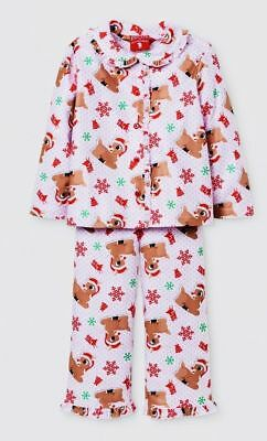 Rudolph The Red-Nosed Reindeer Girls Christmas Pajamas PJs Size 12m & 5T