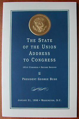 "GEORGE H.W. BUSH (Sr.) 1990 ""STATE OF THE UNION ADDRESS""~VIP EDITION TO CONGRESS"