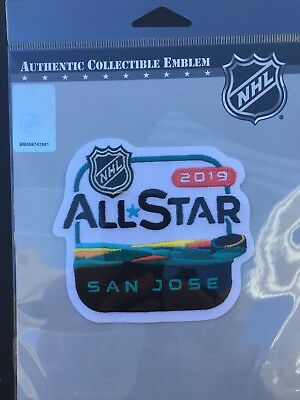 2019 Nhl All Star Game Patch San Jose Sharks Stadium Puck Style Stanley Cup