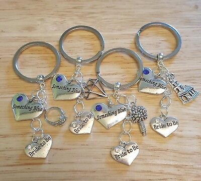 Bride To Be Wedding Themed Metal Keyring Wedding Present Gift The Something Blue