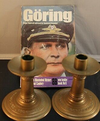 Ww2 Candle Holders Taken From Herman Goring's Private Railway Car-Vet Documented