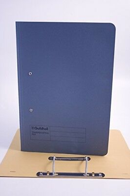 Exacompta Guildhall 355 x 250 mm Spiral File, Foolscap, 420 gsm, Blue, Pack of 2