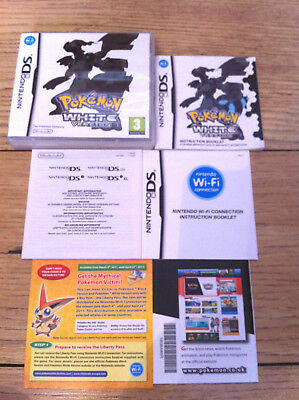 *no Game* Pokemon White Version Case Box & Instructions Only Nintendo Ds