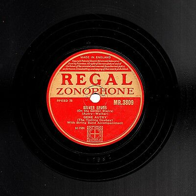 Gene Autry 78  Silver Spurs / Someday You'll Want Me To Want You  R.z. Mr3809 E-