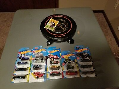 HOT WHEELS MIXED LOT OF 14 Cars 2017/2018 with case