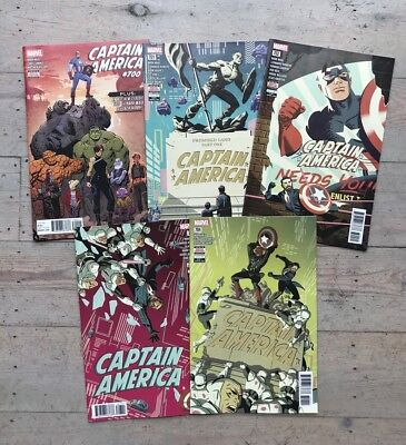 Captain America 5 Issue Run 700-704 701 702 703 NEW Marvel Comics