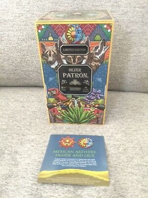 Patron Tequila Limited Edition Collectible Empty Metal Box Tin. Mexican Art