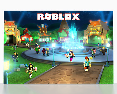 Fortnite Battle Royale Game Canvas Wall Art Print Picture Roblox Gaming Poster