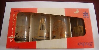 1967 Expo67 Montreal, Canada-set of 4 glasses.not removed from original box