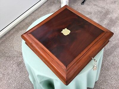 Antique Vintage Collectors Jewellery Box  Flame Mahogany Finish