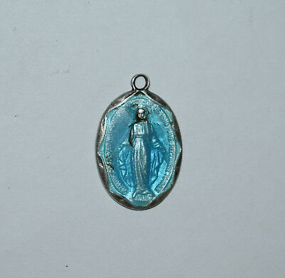 25. A Religious Medals With Enameling Virgin Mary - Sterling Silver