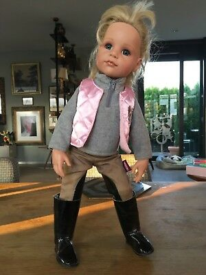 Authentic GOTZ HANNAH DOLL (576-20) In Original Equestrian Outfit