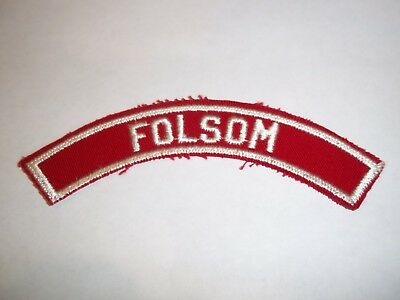 FOLSOM red and white community shoulder strip patch; Golden Empire Council