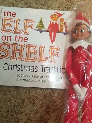 Elf on the Shelf A Christmas Tradition Blue-eyed Boy Elf Doll and Book Set (red