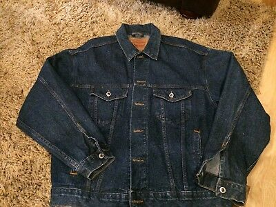 Levis Denim Trucker Jeans Jacket 70507 4890 Mens L USA Made 4  Vintage