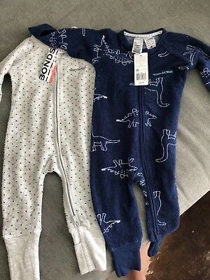 2 x Bonds Zippy Wondersuit 3-6 months