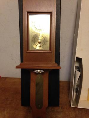Airguide Jefferson Barometer Thermometer #263 Wood Original Late 1940's NOS Box