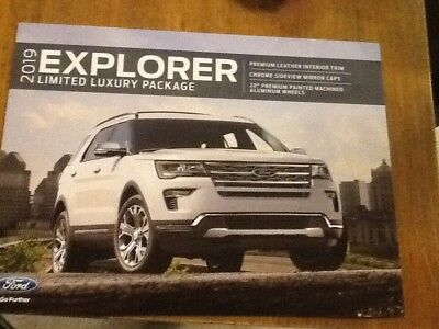 2019 Ford Explorer limited luxury package brochure new